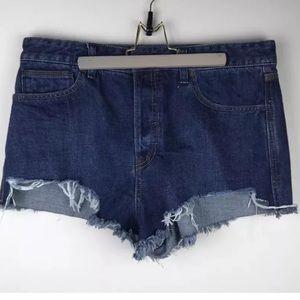 Free People Jean Shorts 31 Cut Off Ripped Denim